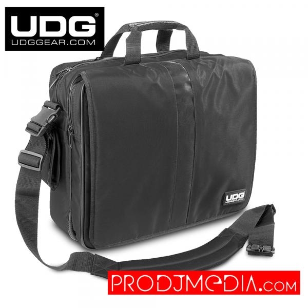 """UDG Ultimate CourierBag DeLuxe 17"""" Black, Orange Inside U9490BL/OR"""