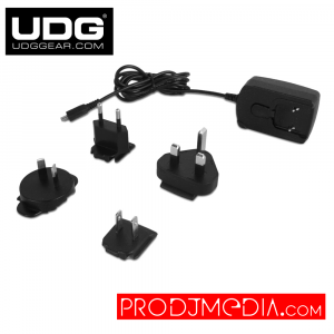 UDG Creator 5V/2A Power Adapter With Exchangeable Adapter Plugs (Euro/US/UK/SAA) U10815