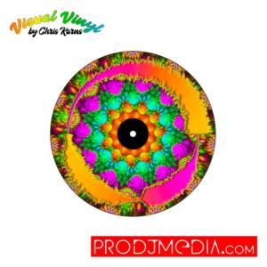 "Visual Vinyl by Chris Karns FRACTALS VOL. 1: SCRATCH RECORD 7"""