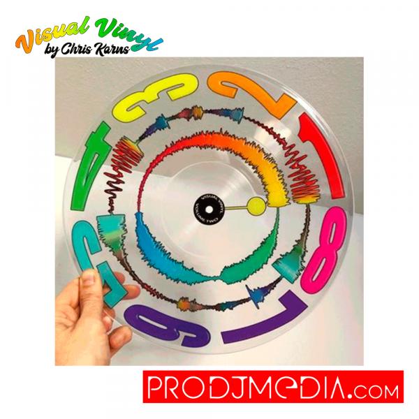 "Visual Vinyl by Chris Karns CLEAR VOL. 2 12"" SCRATCH RECORD"