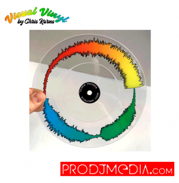"Visual Vinyl by Chris Karns CLEAR VOL. 1: 7"" SCRATCH RECORD"
