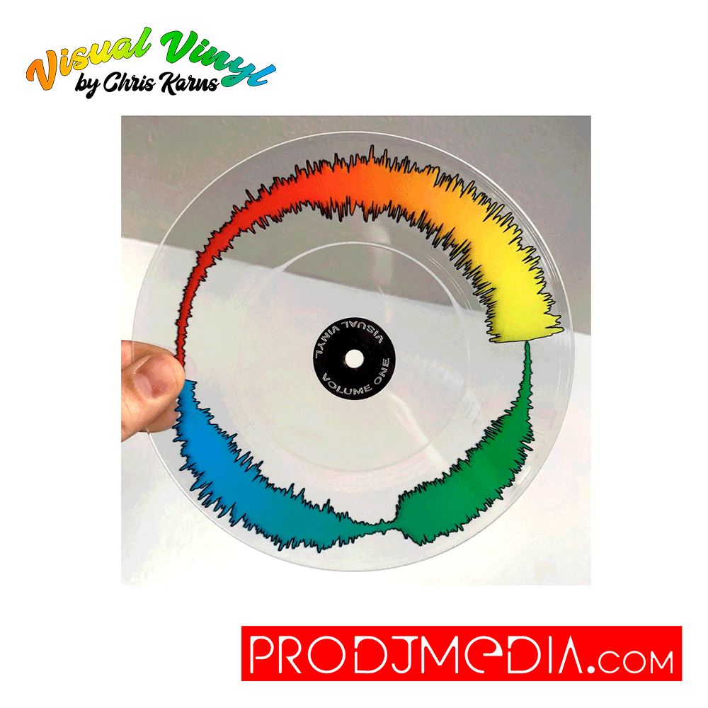 "Visual Vinyl by Chris Karns CLEAR VOL. 1: 7"" SCRATCH RECORD"