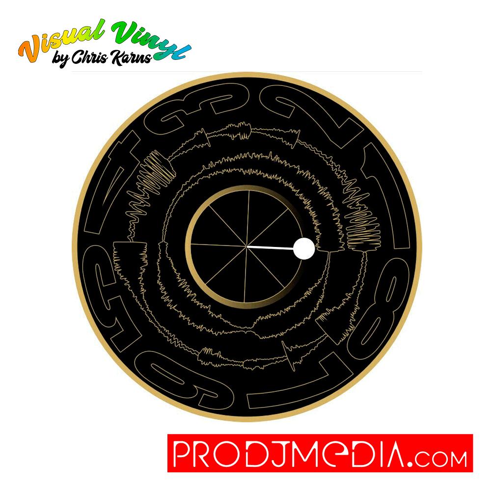 "Visual Vinyl by Chris Karns Visual Vinyl Vol.2 Black and Gold Vinyl 12"""