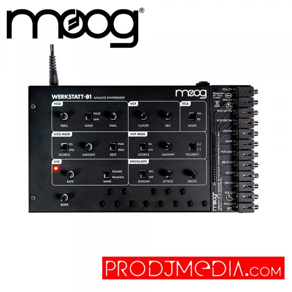 Moog Werkstatt-01 y CV Expander Kit Sintetizador